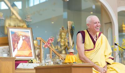 Com o monge Gen Kelsang Tsultrim